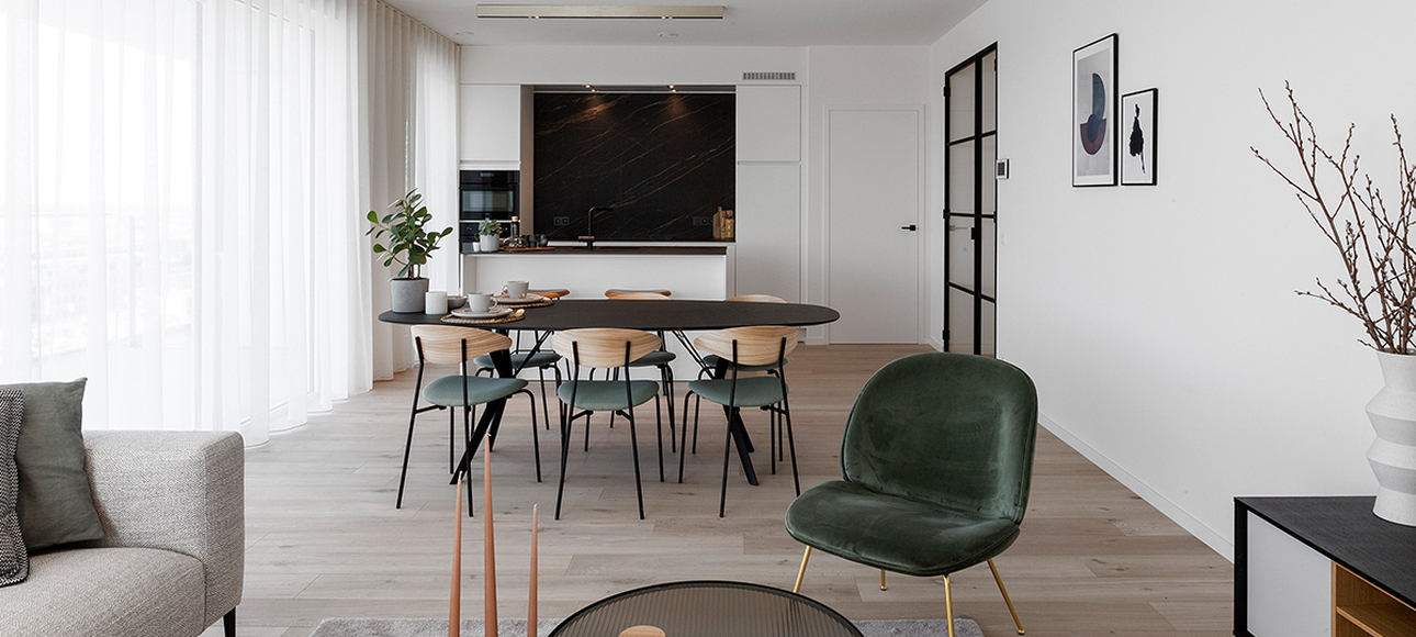 Caaap De Nieuwe Dokken Gent Modelappartement Faar Stephane Beel Living Woonruimte Keuken Header